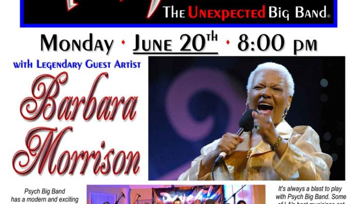 Psych! the Unexpected Big Band at Typhoon Santa Monica with Barbara Morrison TONIGHT!